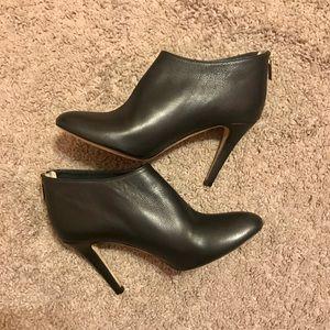 Jimmy Choo Black Leather Heeled Booties